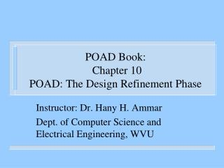 POAD Book:  Chapter 10 POAD: The Design Refinement Phase