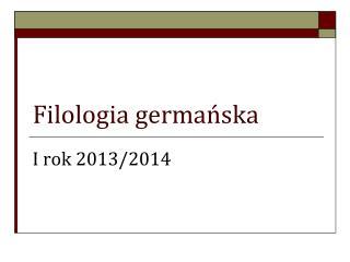 Filologia germańska