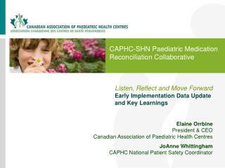 CAPHC-SHN Paediatric Medication Reconciliation Collaborative
