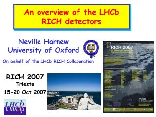 An overview of the LHCb RICH detectors