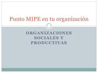 Punto MIPE en tu organización
