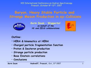 Baryon, Heavy Stable Particle and  Strange Meson Production in ep-Collisions