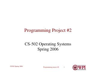 Programming Project #2