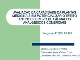 Programa PIBIC-UNISUL