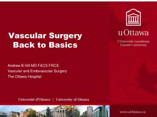 Vascular Surgery Back to Basics