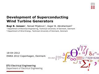 Development of Superconducting Wind Turbine Generators
