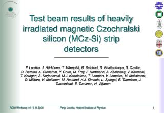 Test beam results of heavily irradiated magnetic Czochralski silicon (MCz-Si) strip detectors