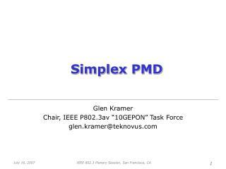 Simplex PMD