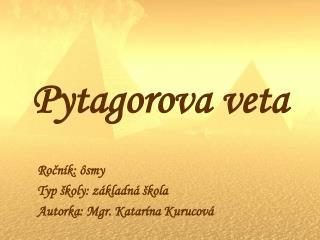 Pytagorova veta