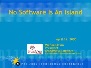 No Software Is An Island