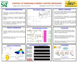 CONTROL OF RENEWABLE ENERGY CENTRIC MICROGRID.