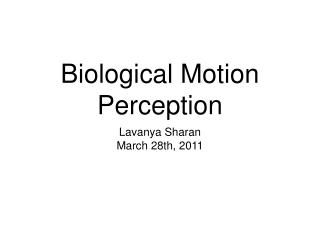 Biological Motion Perception
