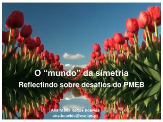"O ""mundo"" da simetria  Reflectindo sobre desafios do PMEB"