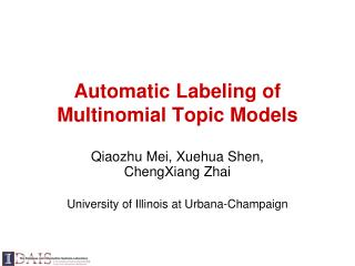 Automatic Labeling of Multinomial Topic Models