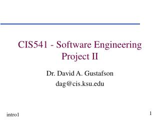 CIS541 - Software Engineering  Project II