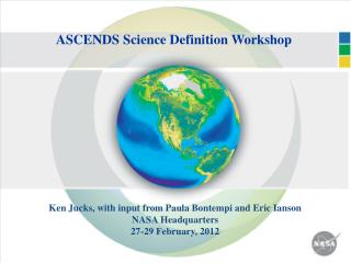 ASCENDS Science Definition Workshop