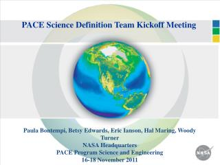 PACE Science Definition Team Kickoff Meeting
