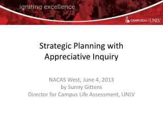 Strategic Planning with Appreciative Inquiry