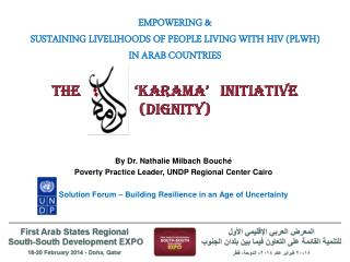 By Dr. Nathalie Milbach Bouché Poverty Practice Leader, UNDP Regional Center Cairo