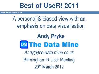 Best of UseR! 2011