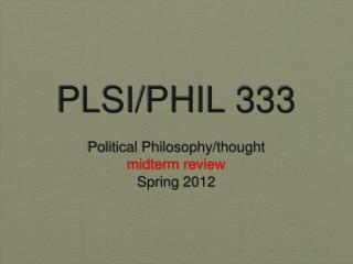 PLSI/PHIL 333