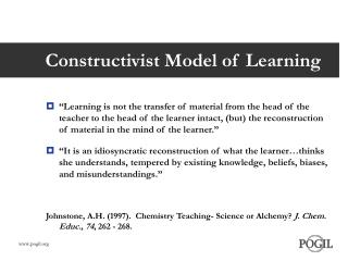 Constructivist Model of Learning