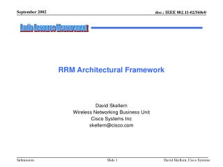 RRM Architectural Framework