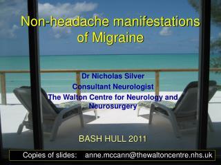 Non-headache manifestations of Migraine
