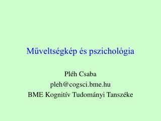 Műveltségkép és pszichológia
