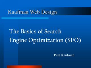 Kaufman Web Design