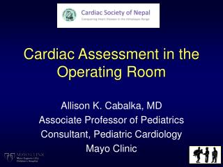 Cardiac Assessment in the Operating Room
