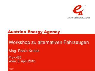 Workshop zu alternativen Fahrzeugen Mag. Robin Krutak