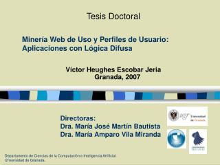 Minería Web de Uso y Perfiles de Usuario: Aplicaciones con Lógica Difusa