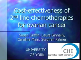 Cost-effectiveness of 2 nd  line chemotherapies for ovarian cancer