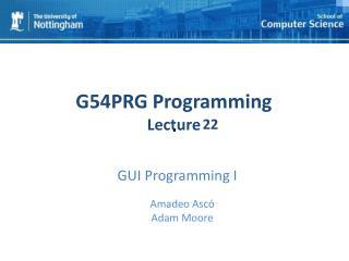 GUI Programming I