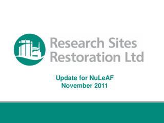Update for NuLeAF    November 2011