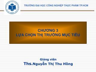 Giảng viên Ths. Nguyễn Thị Thu Hồng