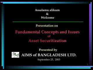 Assalamu alikum  &  Welcome