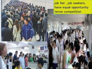 job fair , job seekers, have equal opportunity tense competition