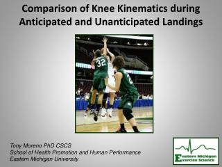 Comparison of Knee Kinematics during  Anticipated and Unanticipated Landings