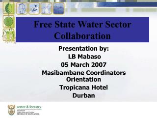 Free State Water Sector Collaboration