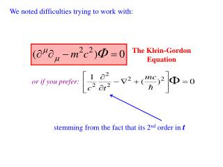 The Klein-Gordon Equation