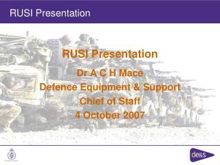 RUSI Presentation