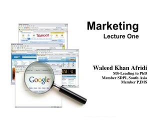 Marketing Lecture One