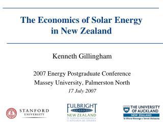 The Economics of Solar Energy in New Zealand