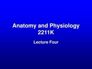 Anatomy and Physiology 2211K