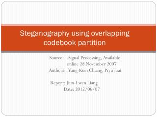 Steganography using overlapping codebook partition