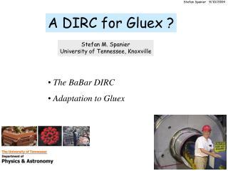 A DIRC for Gluex ?