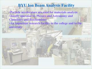 BYU Ion Beam Analysis Facility