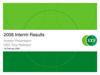 2008 Interim Results